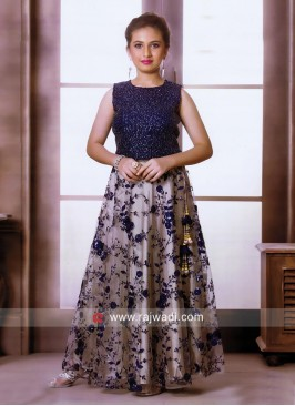 Designer Flower Work Choli Suit