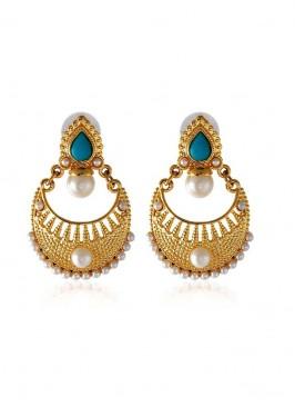 Designer Golden and Blue Earring