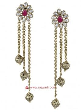 Designer Golden Drop Earrings