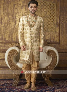 Designer Golden Indo Western
