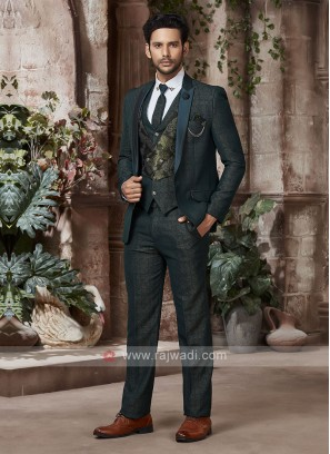 designer green suit