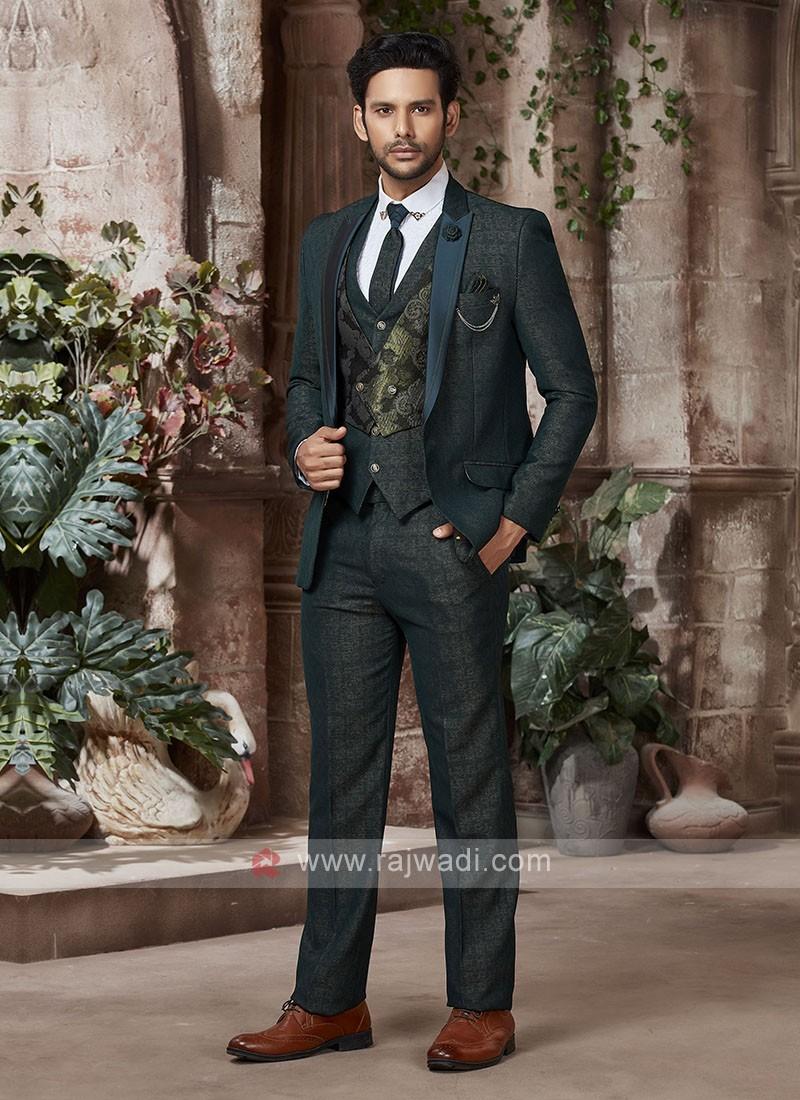 designer green suit