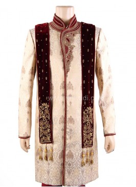 Designer Groom Dupatta with Zardozi Work