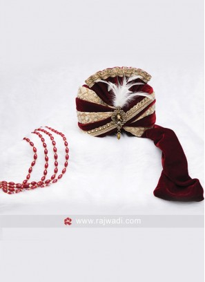 Designer Groom Turban With Fancy Broach