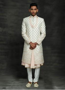 Designer Anarkali Sherwani For Groom Wedding