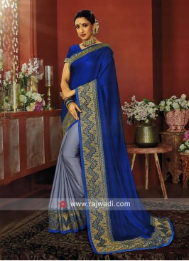 Designer Half n Half Saree with Blouse