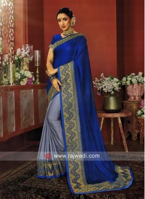 Designer Half n Half Saree with Blouse