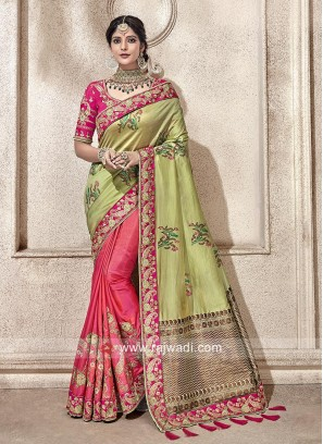 Designer Half n Half Wedding Saree