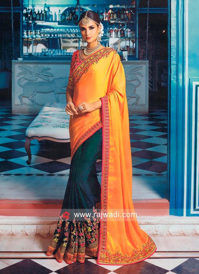 Designer Half Saree with Blouse