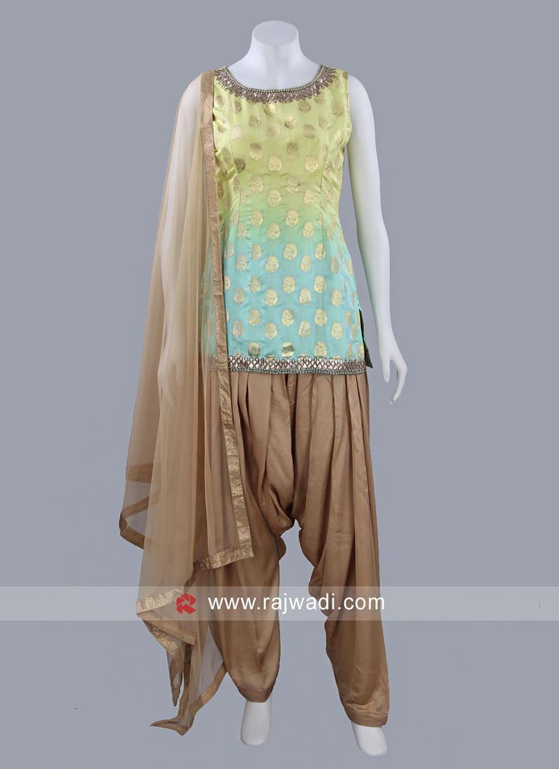 Readymade Shaded Patiala Suit