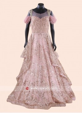 Designer Heavy Gown for Wedding