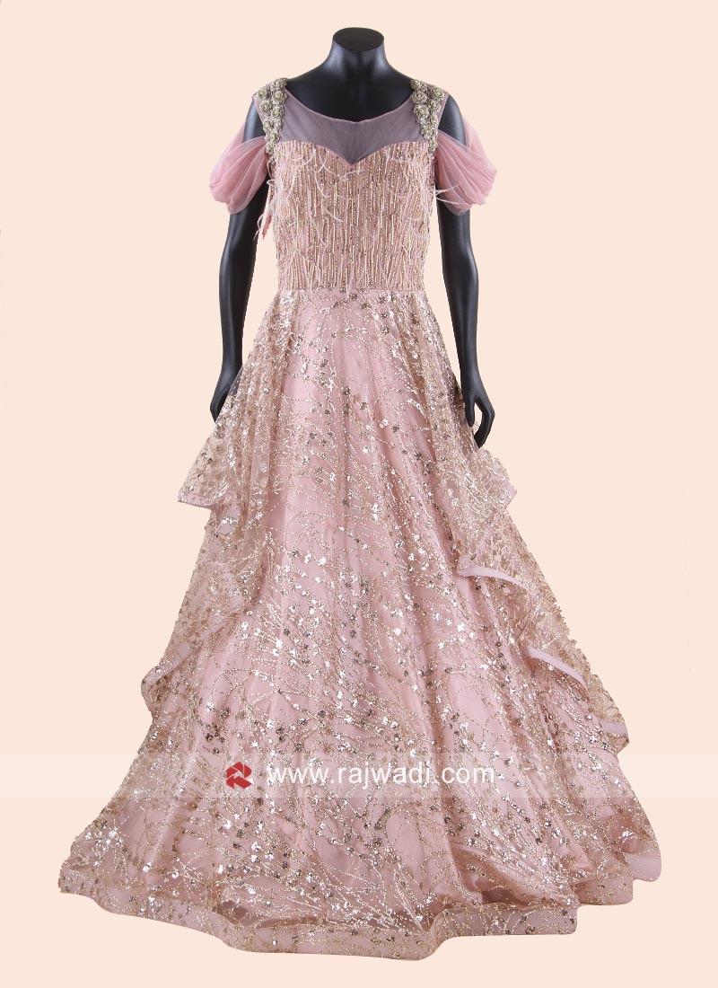 Designer Heavy Gown for Wedding