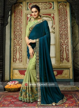Designer Heavy Work Half n Half Saree