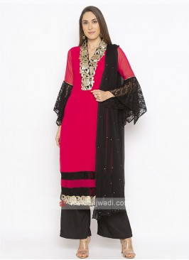 Designer Hot Pink Colour Salwar Suit