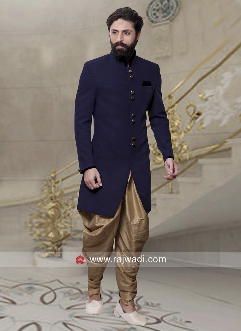 Designer Indo Western In Navy