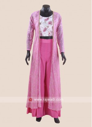 Designer Indo Western Palazzo Suit with Jacket
