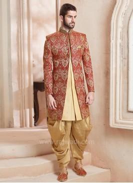Designer Jacquard Silk Indo Western