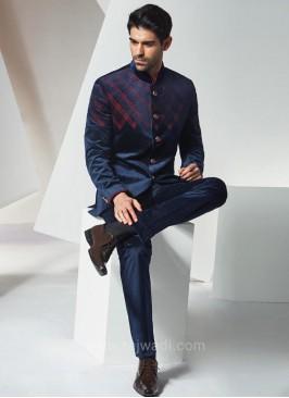 Designer Jodhpuri Suit in Blue