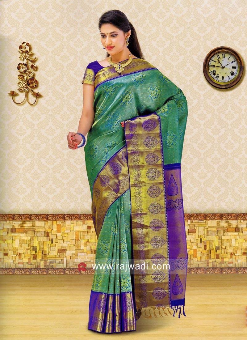 Designer Kancheepuram Silk Saree