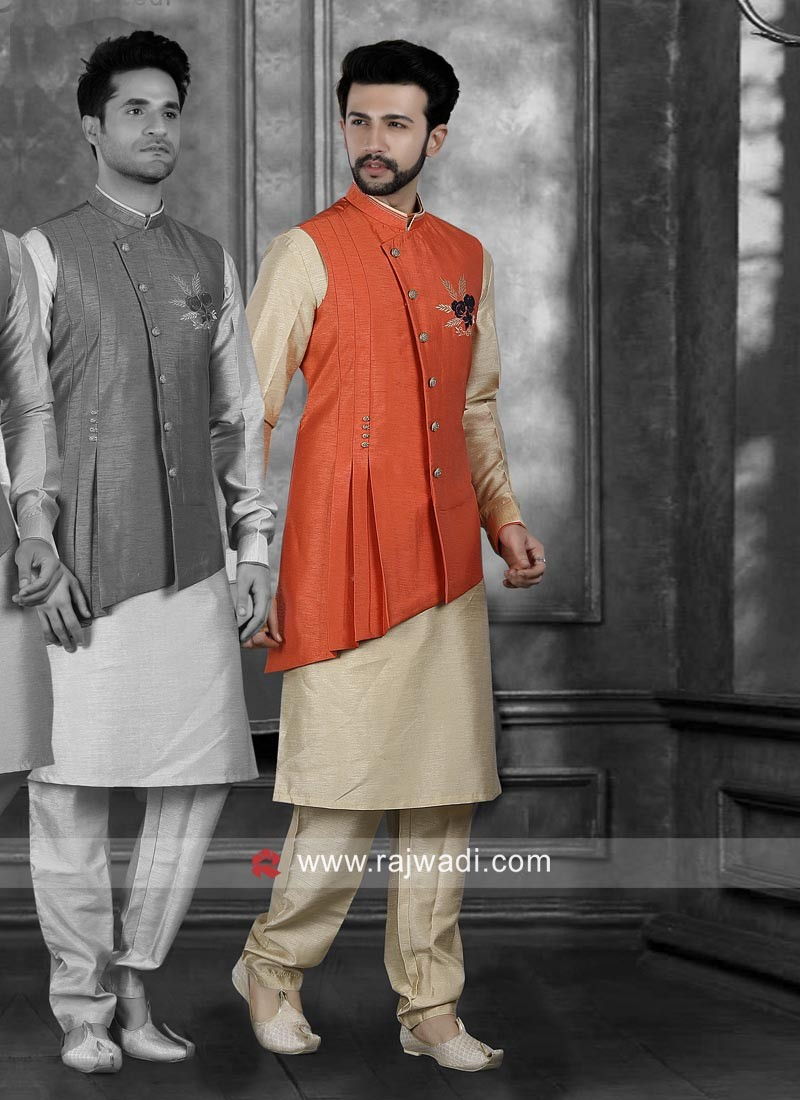 Designer Nehru Jacket With Fancy Buttons