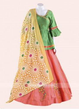 Designer Kutch work Long Choli Style Chaniya Choli