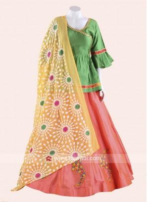 Designer Kutch work Long Choli Style Chaniya Choli