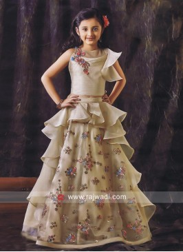 Designer Layered Choli Suit for Girls