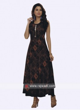 Designer Layered Kurti with Broach