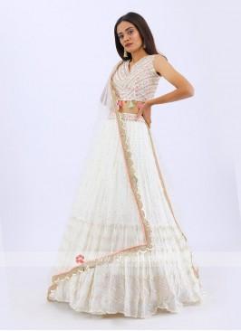 Designer Lehenga Choli In Cream