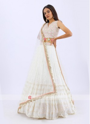 Designer Lehenga Choli In Cream