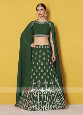Designer Lehenga Set in Green