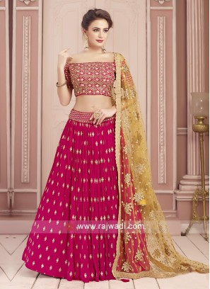 Designer Magenta Color Choli Suit