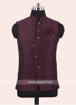 Designer Maroon Koti For Wedding