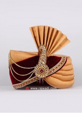 Designer Mens Safa With Fancy Broach