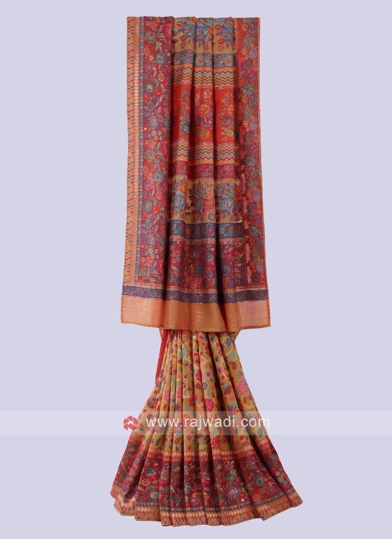 Designer Multi Color Saree