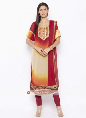 Designer Multi Colour Salwar Suit