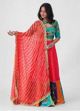 Designer Multicoloured Lehenga Choli