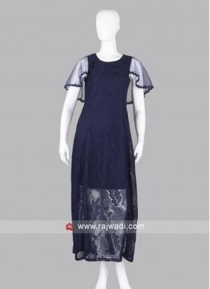 Designer Navy Blue Maxi Dress