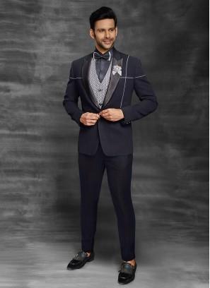 Designer Navy Blue Suit