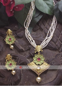 Designer Necklace Set with Earrings