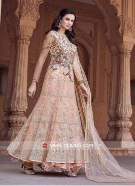 Designer Net Anarkali Salwar Kameez