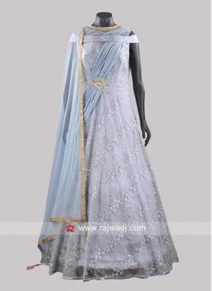 Designer Net Anarkali Suit