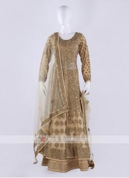 Designer Net Indowestern Lehenga Choli