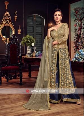 Designer Net Semi Stitched Salwar Suit