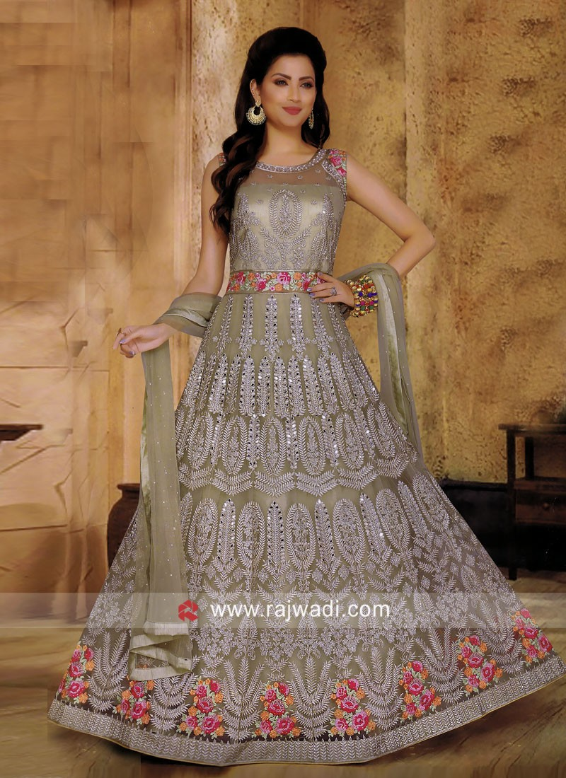 Designer Net Wedding Anarkali Suit