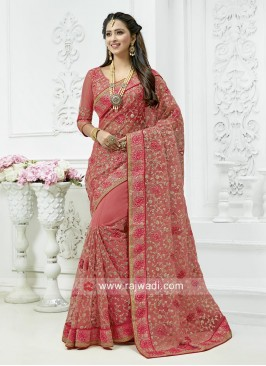 Designer Net Wedding Saree