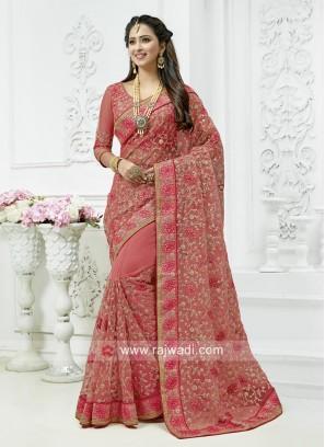 Designer Net Wedding Saree