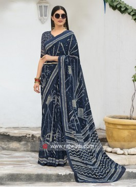 Designer Office Wear Printed Saree
