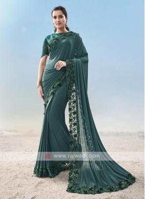 Designer Party Wear Lycra Saree
