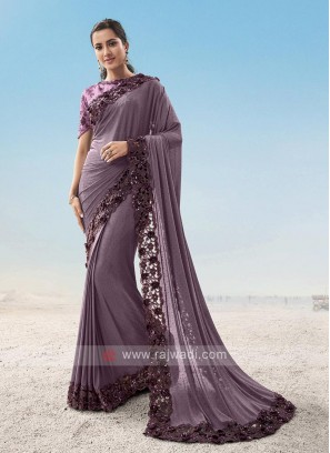 Designer Party Wear Lycra Saree